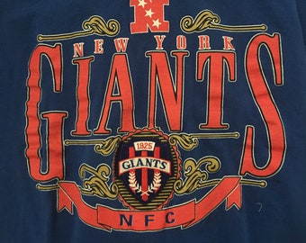 Vintage 90s New York Giants Tshirt - NFL Tee - New York Giants Tshirt - Medium * Made In USA