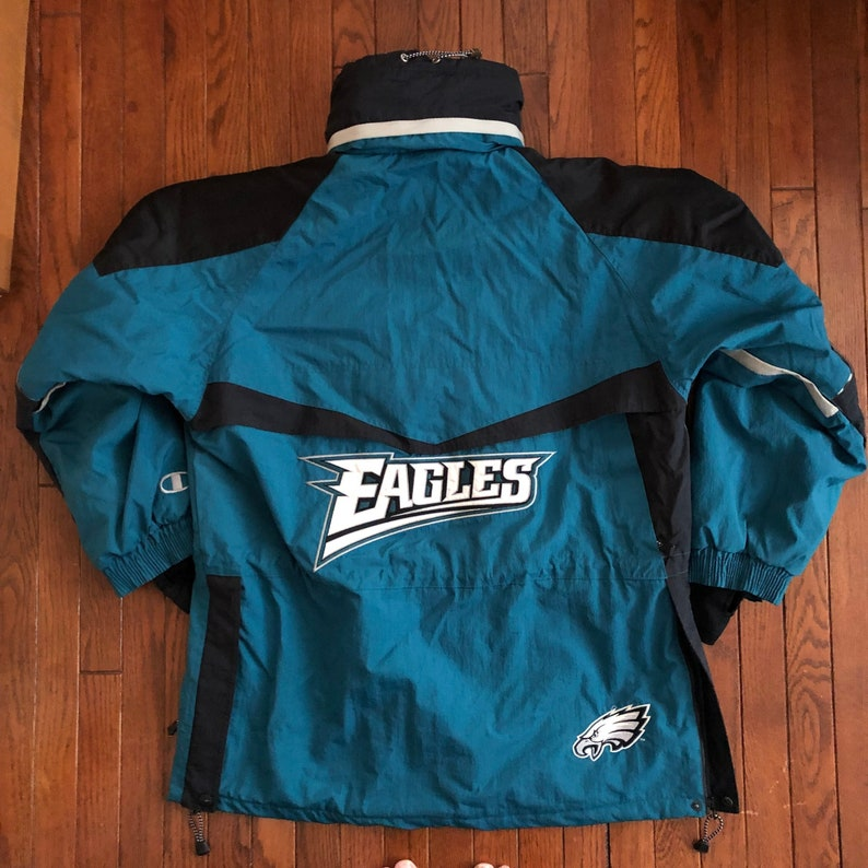 bbcc89a4 Vintage 90s Philadelphia Eagles Colorway Champion NFL Winter Jacket - XL
