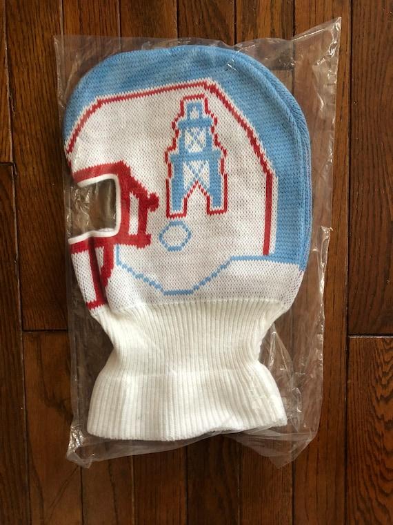 Vintage 80s 90s Deadstock Houston Oilers NFL Beanie Knit Ski  5a2ce82b4d4