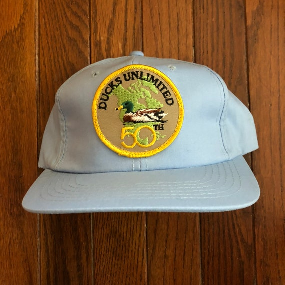 Vintage Ducks Unlimited Snapback Hat Baseball Cap Patch  2bdc121be45