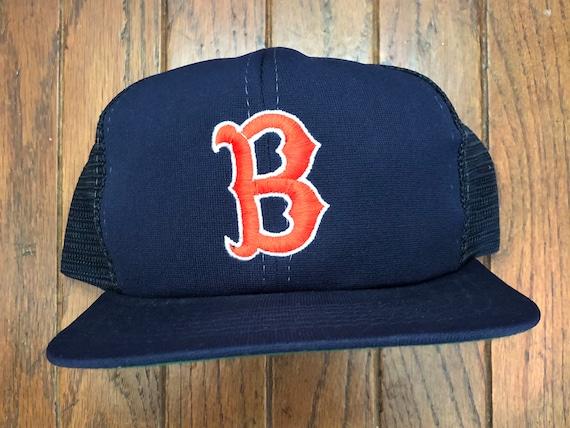 vintage 80s 90s boston red sox baseball mlb mesh trucker hat etsy