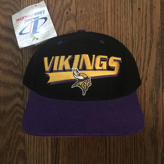 Vintage 90s Deadstock Minnesota Vikings NFL Snapback Hat  f7f2fa3296d