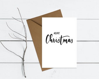 Merry Christmas | Hand-lettered typographic Christmas card
