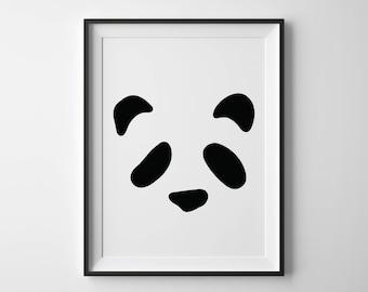 Panda | Black and white print