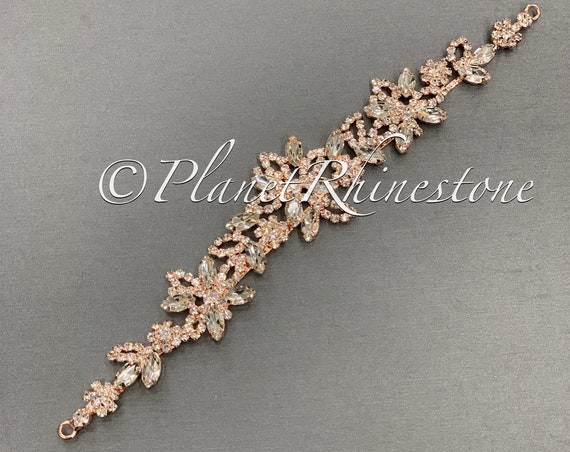 Rose Gold Crystal Applique #AS-23