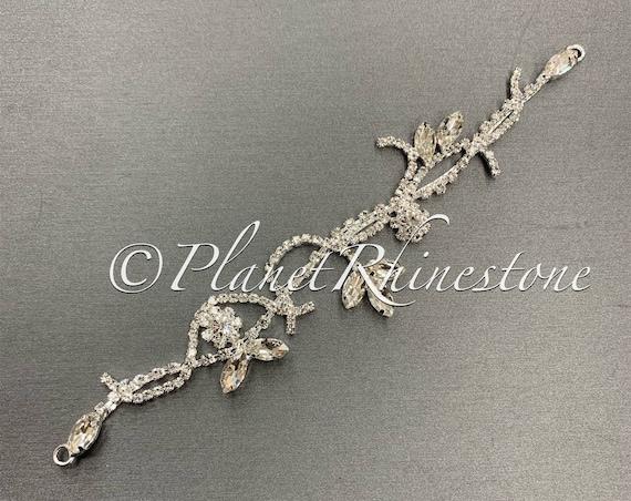 Silver Crystal Applique #AS-26