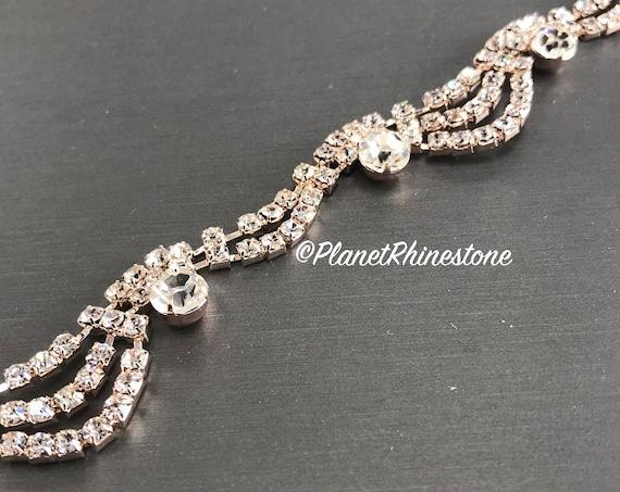 Rose Gold Cinderella Crystal Trim #T-5