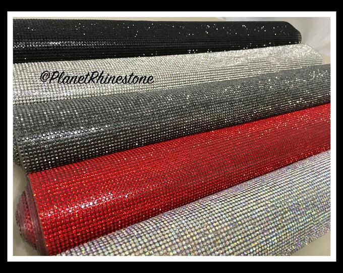 Iron-On Rhinestone Sheet Panel - Glass Crystal Rhinestone Sheets #S004