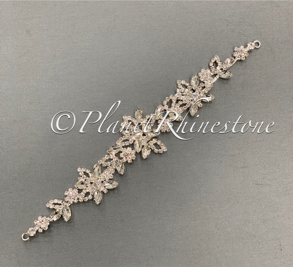 Silver Crystal Applique #AS-23