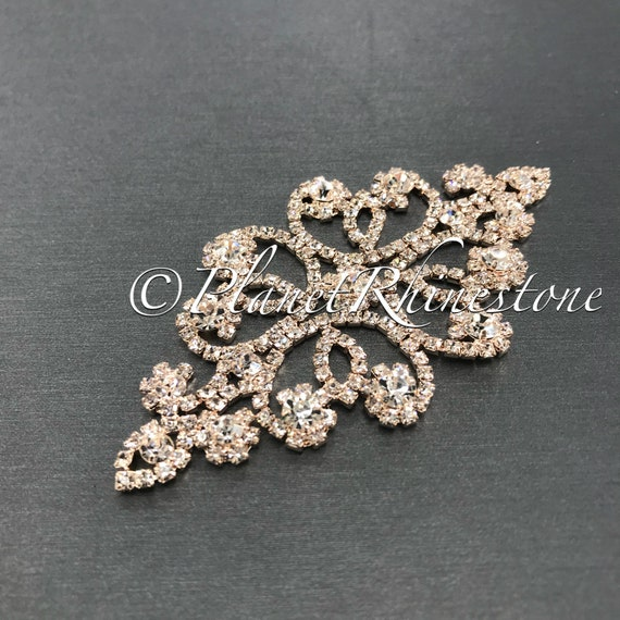 Rose Gold Crystal Applique #AS-19
