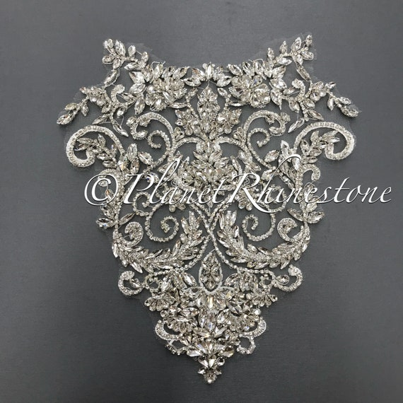Crystal Lace Applique Pair #LA-4