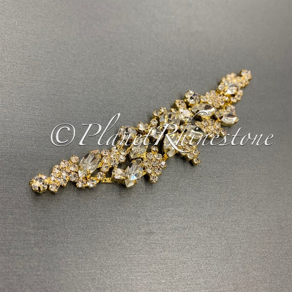 Gold Crystal Applique #AS-25