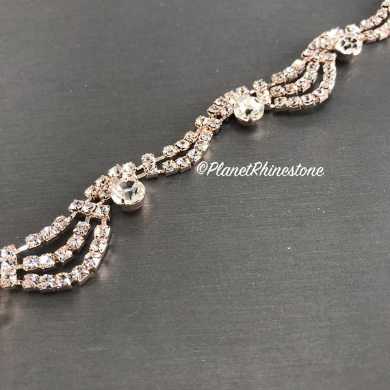 Rose Gold Cinderella Crystal Trim #T-5