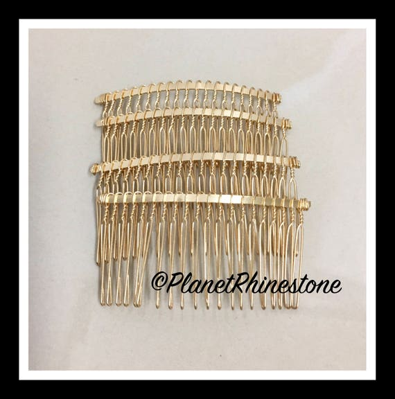 "Four Gold 3"" Hair Combs - DIY HAIR COMB - Metal Hair Combs - Bridal Veil Comb - Hair Fascinators - Hair accessories - headpiece"