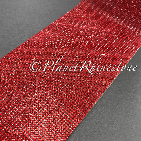 Red Iron-On Crystal Sheet #S004