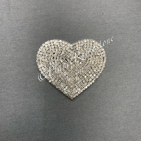 Small Rhinestone Heart Applique #AS-05