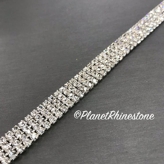 Silver Simple Crystal Trim  #T-D