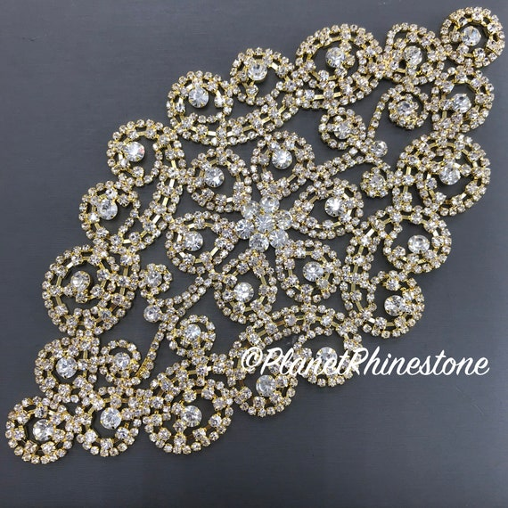 Gold Rhinestone Applique #A-04