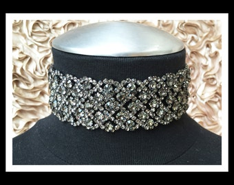 Black Diamond Rhinestone Choker #C105