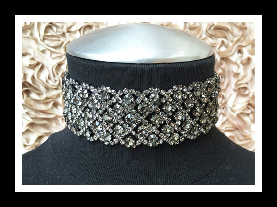 Black Diamond Rhinestone Choker #C105