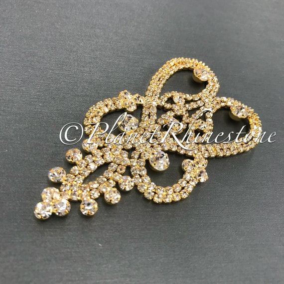 Gold Crystal Applique #AS-21