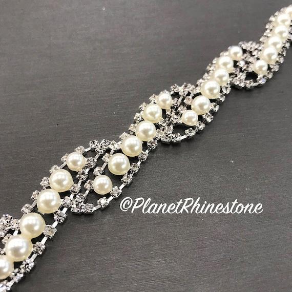 Pearl Rhinestone Trim #0105