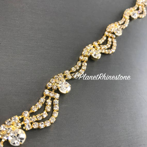 Gold Cinderella Crystal Trim #T-5