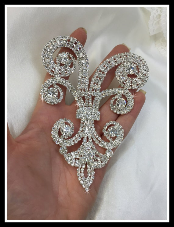 Rhinestone Applique/ Rhinestone Jewelry Applique/ Rhinestone Decoration/ Swarovski shine #0106