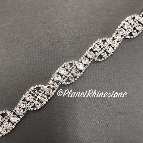 Silver Rhinestone Trim #0105