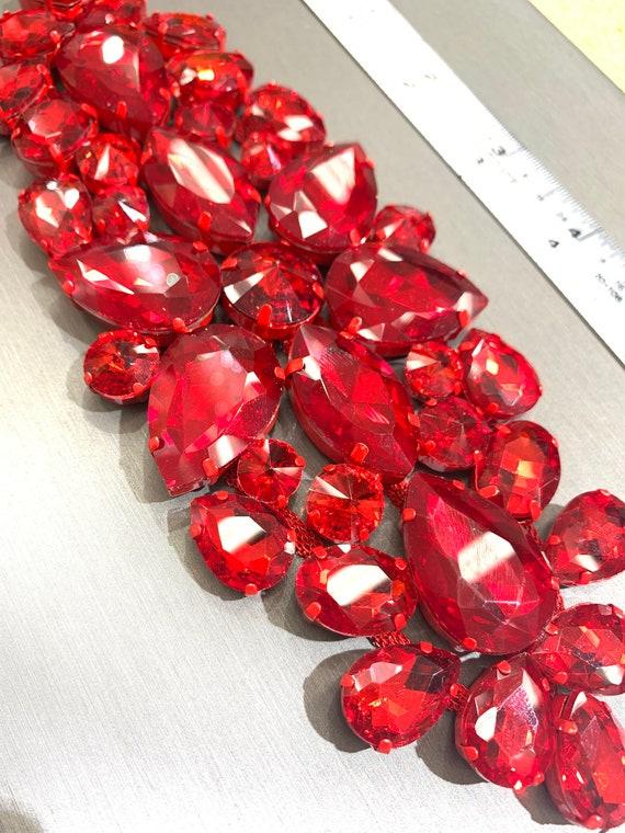 Red  crystal Applique