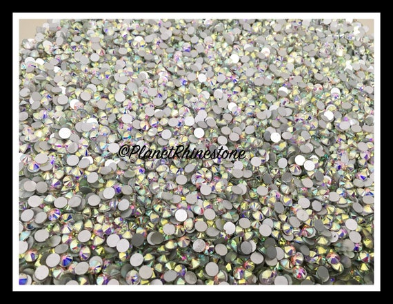 SS30 - AB - 50GR (7,200 PCS) Loose Glass Egyptian Rhinestones #L003 WHOLESALE