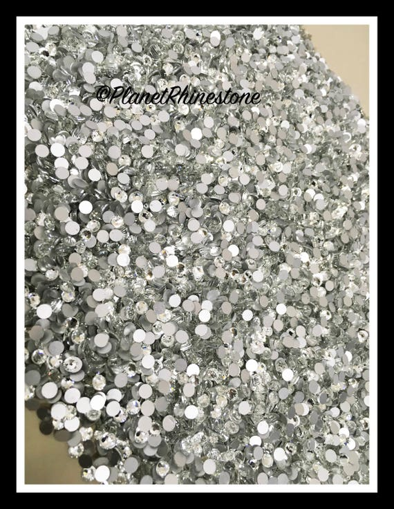 SS20 - Clear - 100GR (14,400 PCS) Loose Glass Egyptian Rhinestones #L002 WHOLESALE