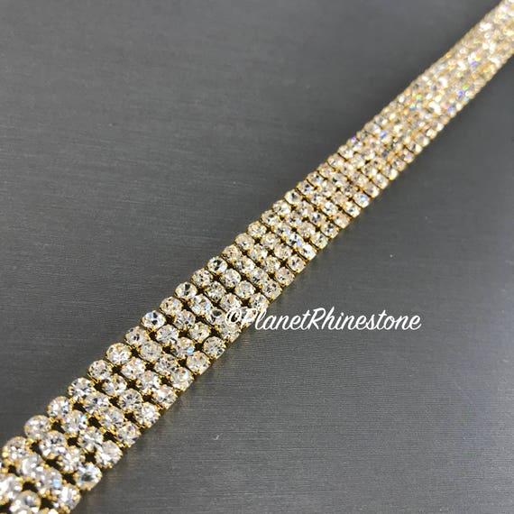Gold Simple Crystal Trim  #T-D