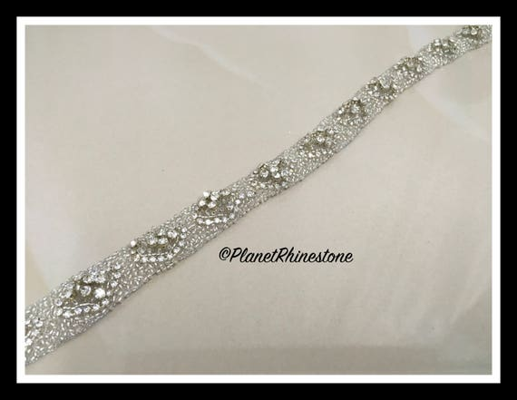 1 yard Beaded Rhinestone  Trim #T-12