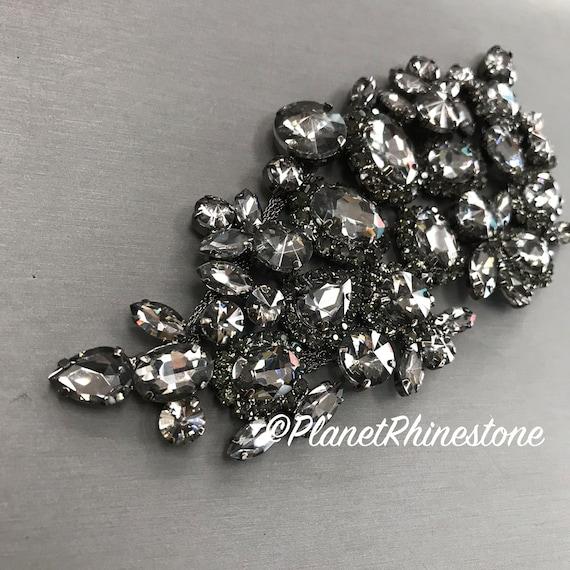 Black Rhinestone Applique #A-01