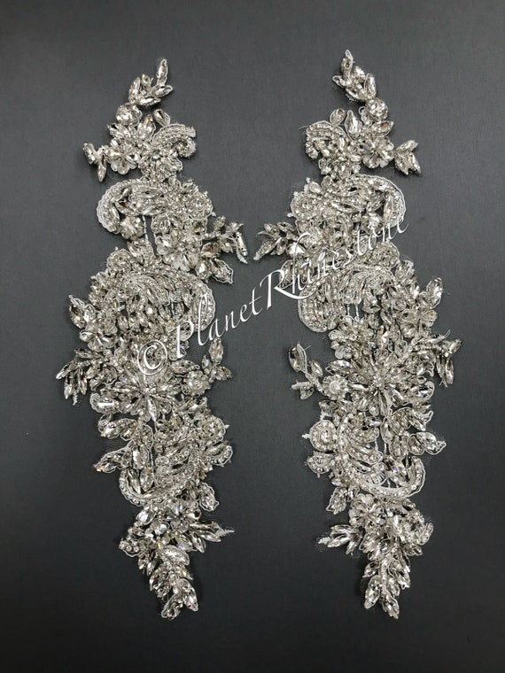 Crystal Lace Applique Pair #LA-1