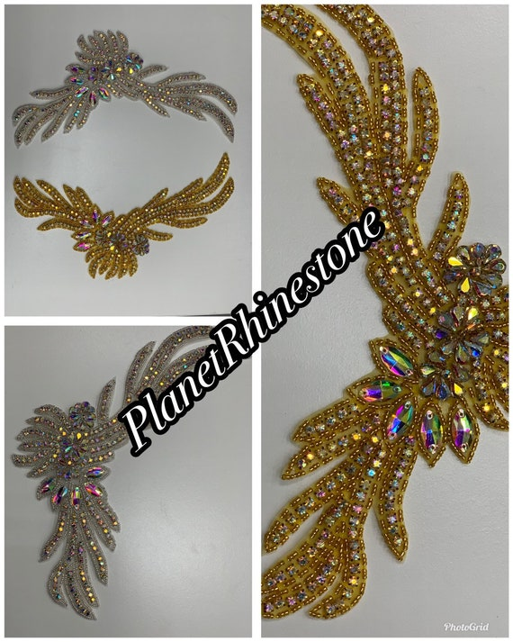 Iron on rhinestone applique
