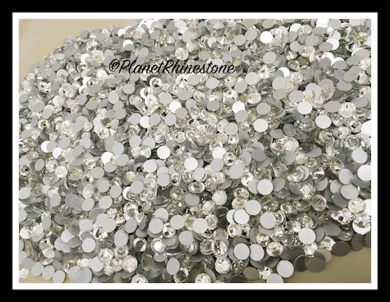 SS40 - Clear - 25GR (3,600 PCS) Loose Glass Egyptian Rhinestones #L004 WHOLESALE