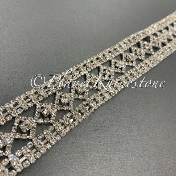 Silver Crystal Trim  #T-10