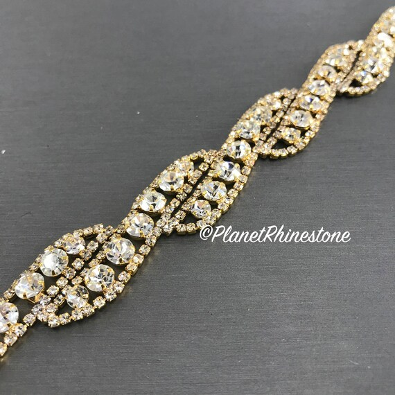 Gold Rhinestone Trim #0105