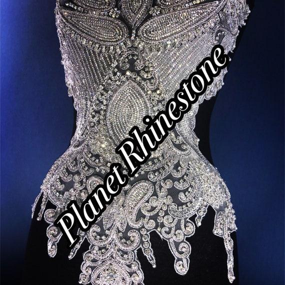 Rhinestone bodice applique
