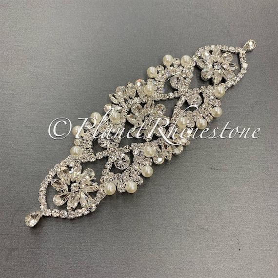 Silver Crystal Applique #AS-27