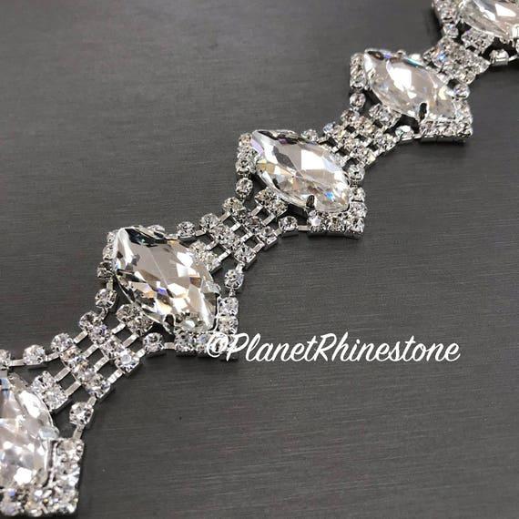 Silver Crystal Trim  #T-C