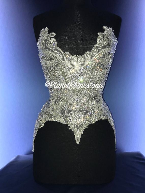 Brianna Crystal Beaded Bodice #F210