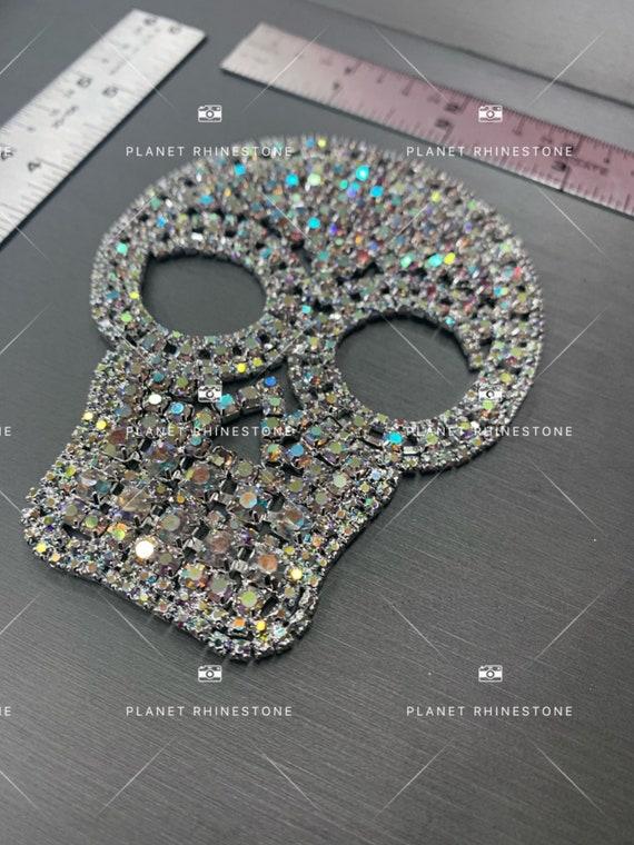 skull AB rhinestone applique
