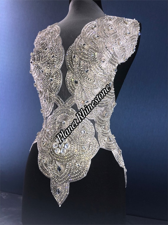 Crystal bodice applique