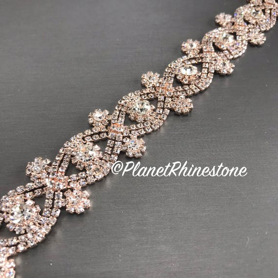 Rose Gold Crystal Trim #0191