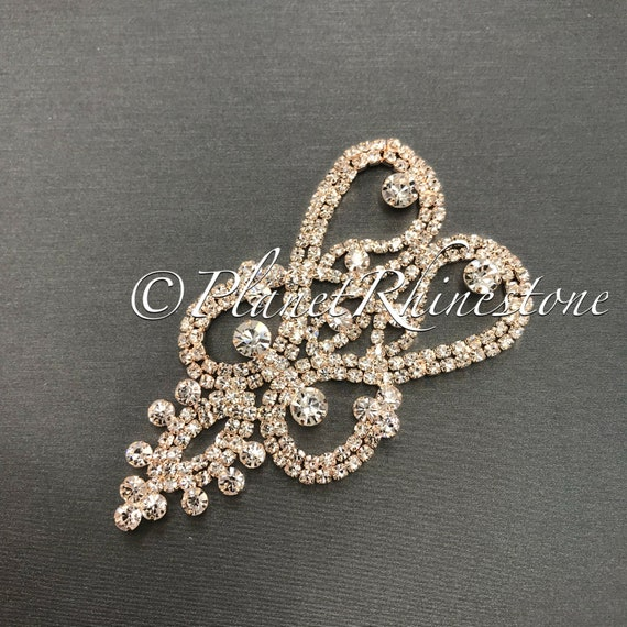 Rose gold Crystal Applique #AS-21