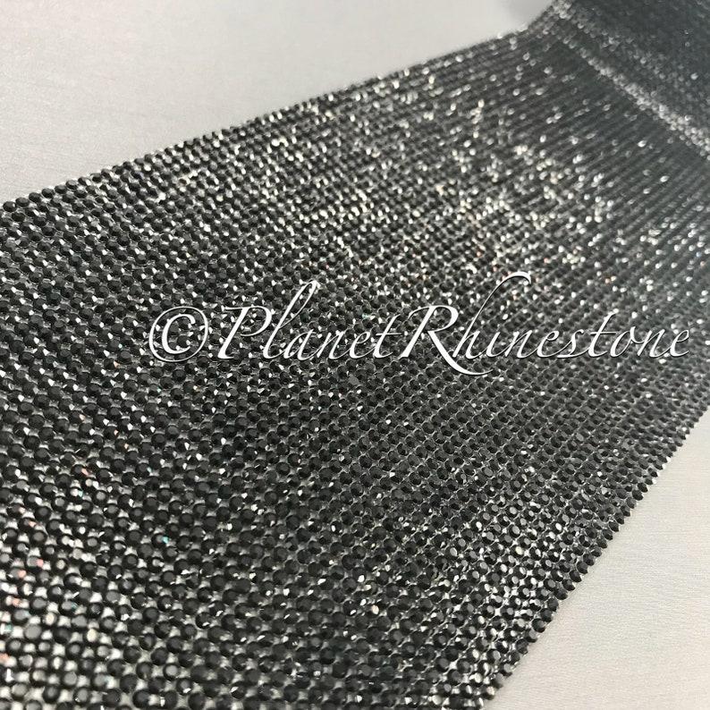 Jet Black Iron-On Crystal Sheet #S004
