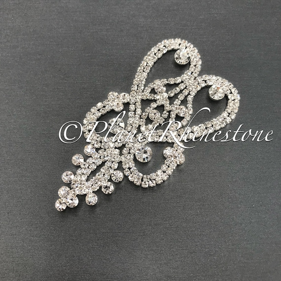 Silver Crystal Applique #AS-21